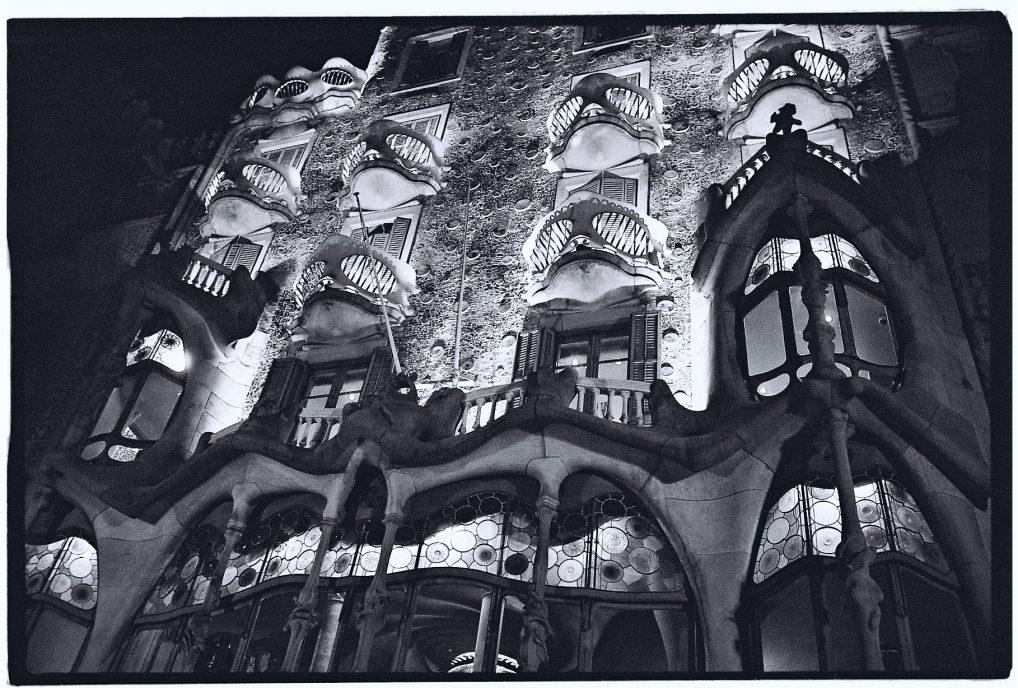 La façade de l'un des immeubles de Gaudi