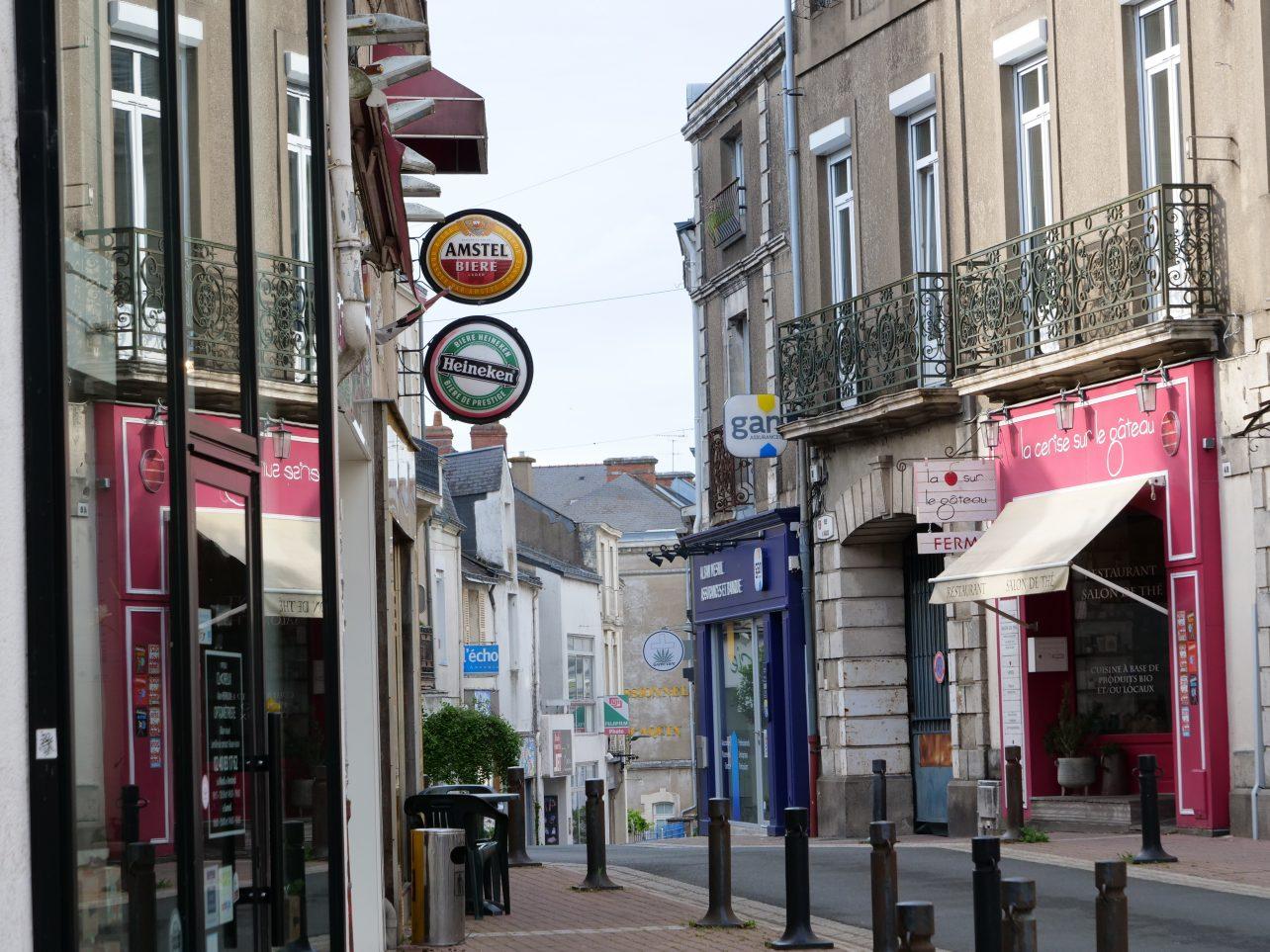 La rue Georges Clemenceau à Ancenis