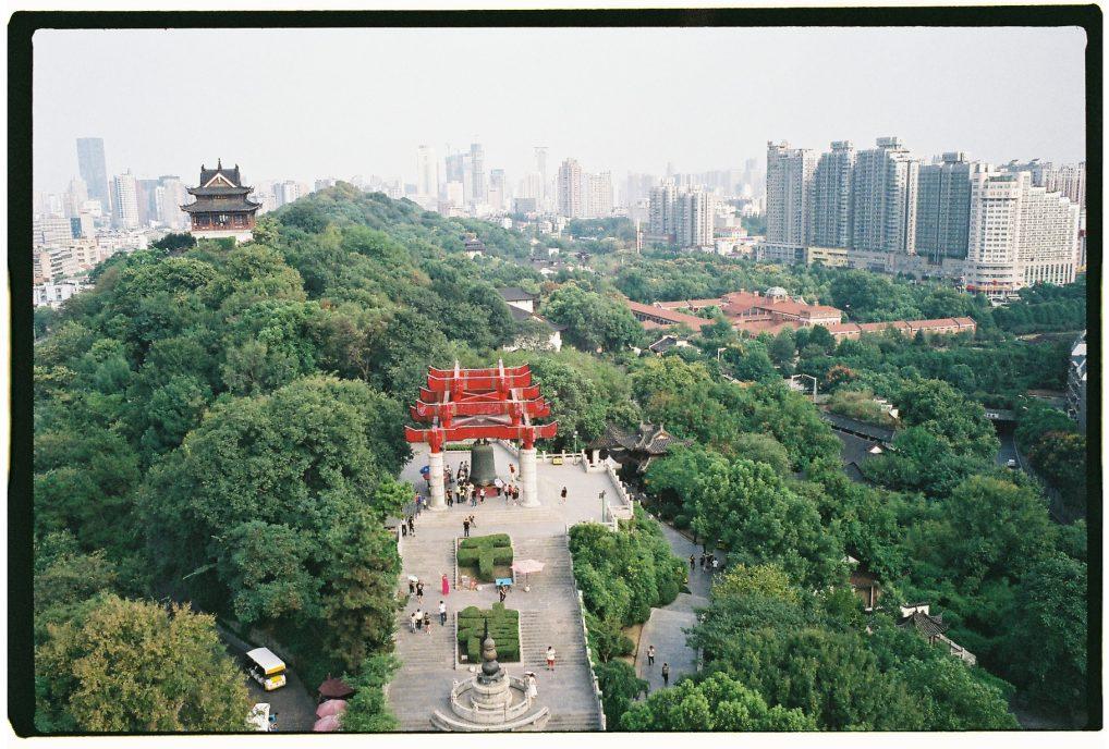 La vue depuis la tour de la Grue Jaune à Wuhan