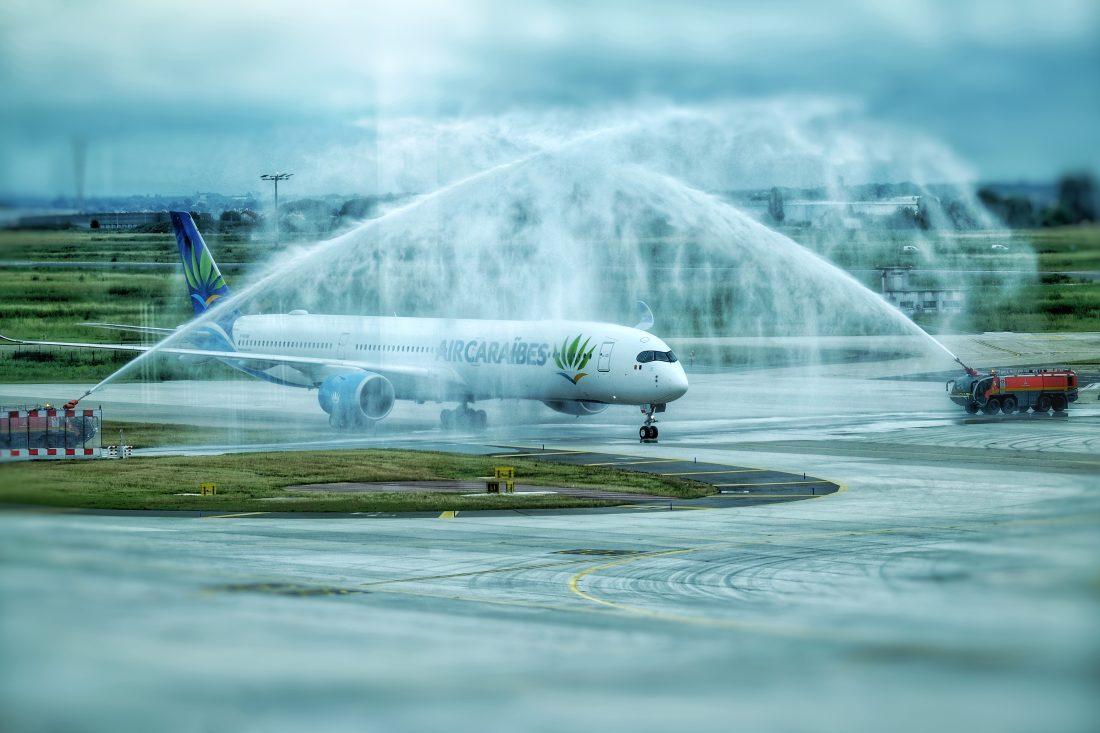 Le baptême d'un A350-1000 de la compagnie Air Caraïbes