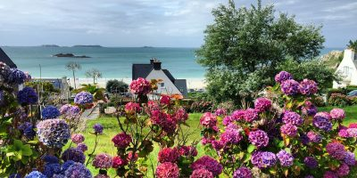 Les jolis paysages de Bretagne vers Perros Guirec