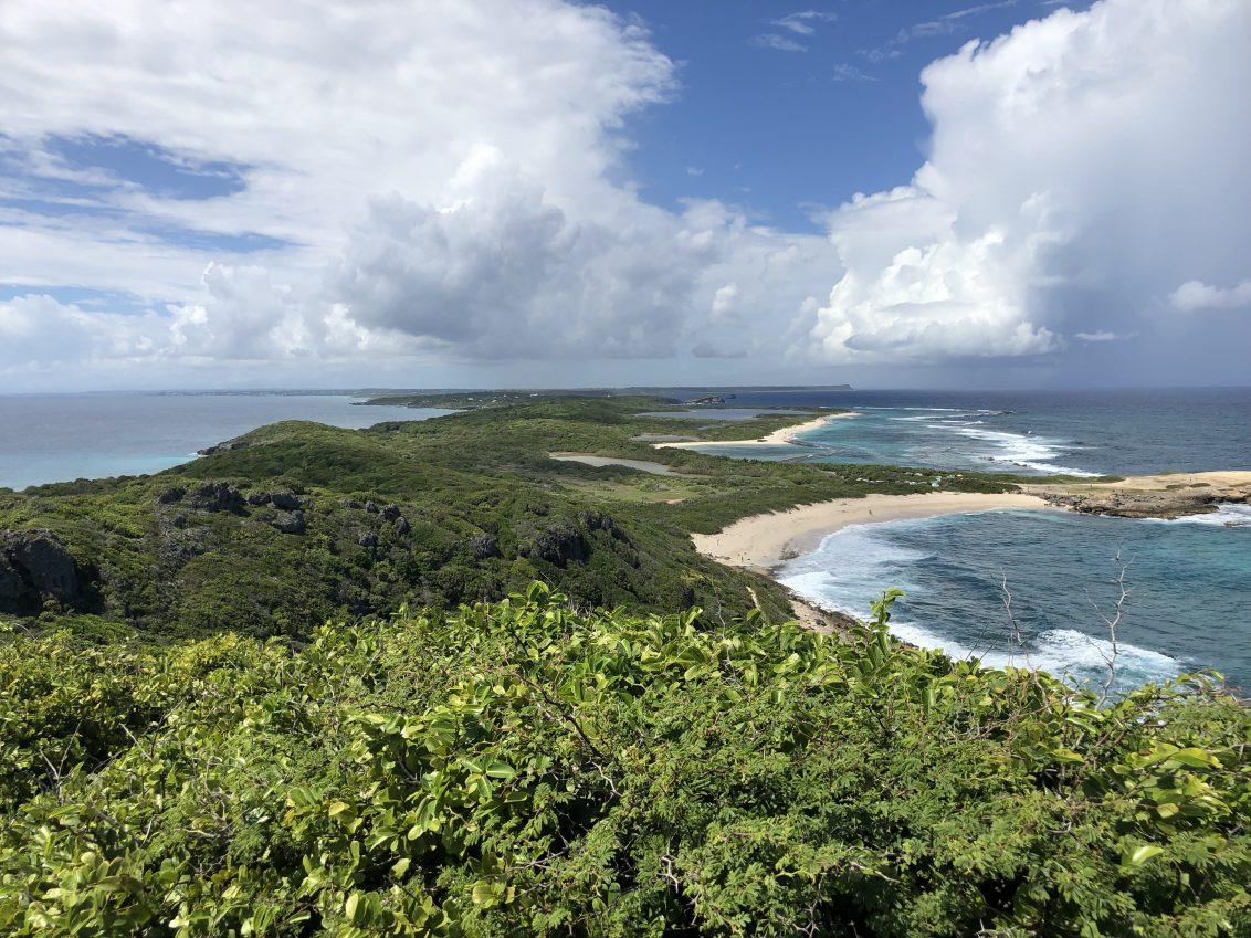L'une des vues depuis la pointe des Châteaux en Guadeloupe