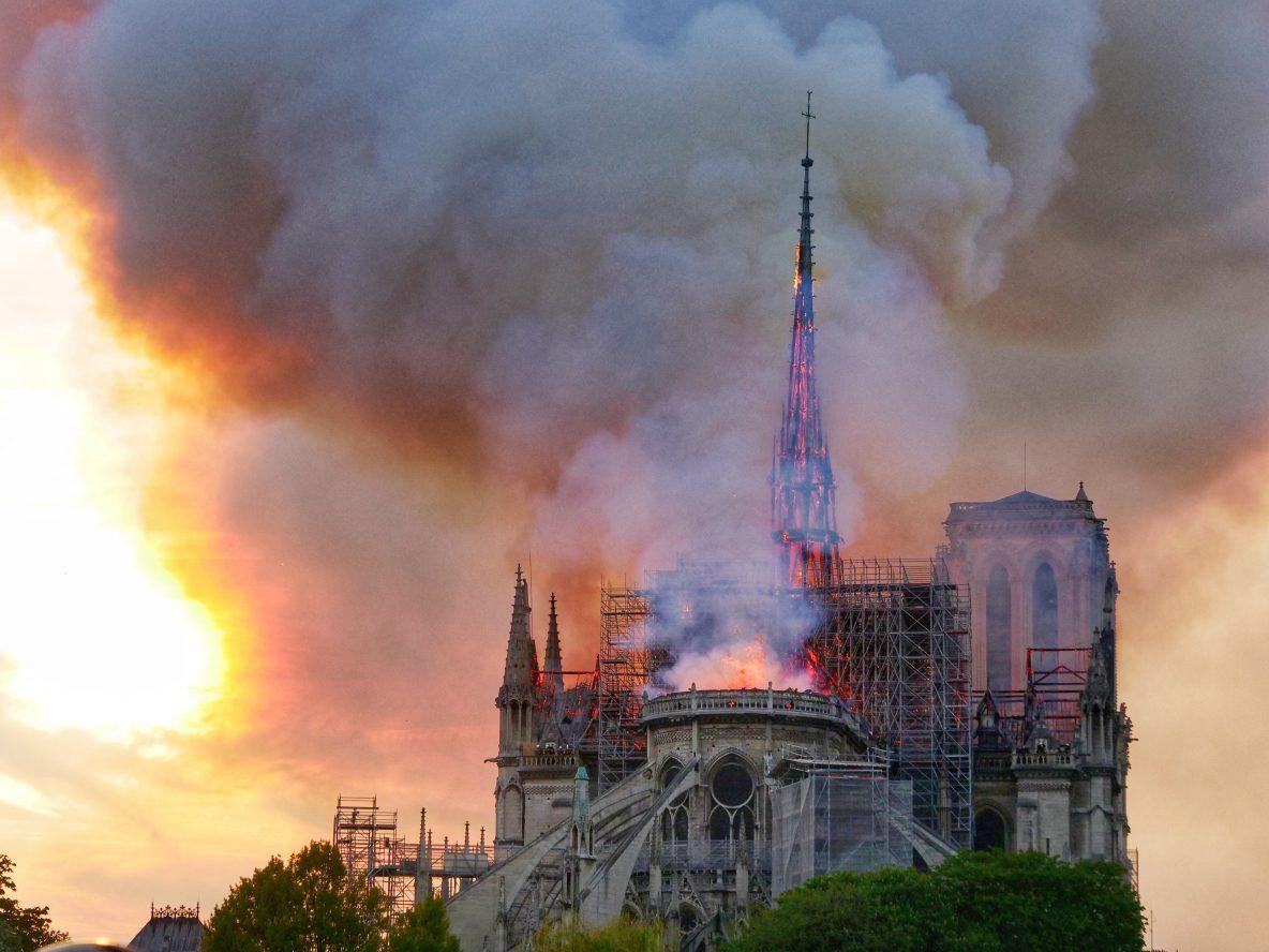 Photo: Yann Vernerie. Notre Dame une oeuvre d'art partie en fumée le 15 Avril 2019