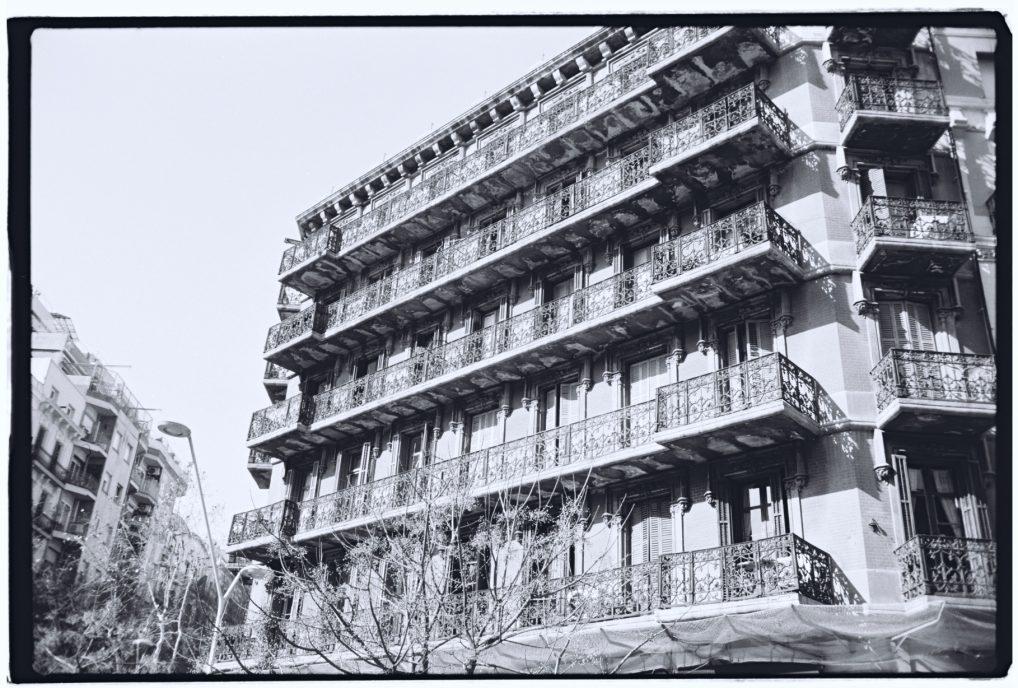 Un immeuble traditionnel à Barcelone
