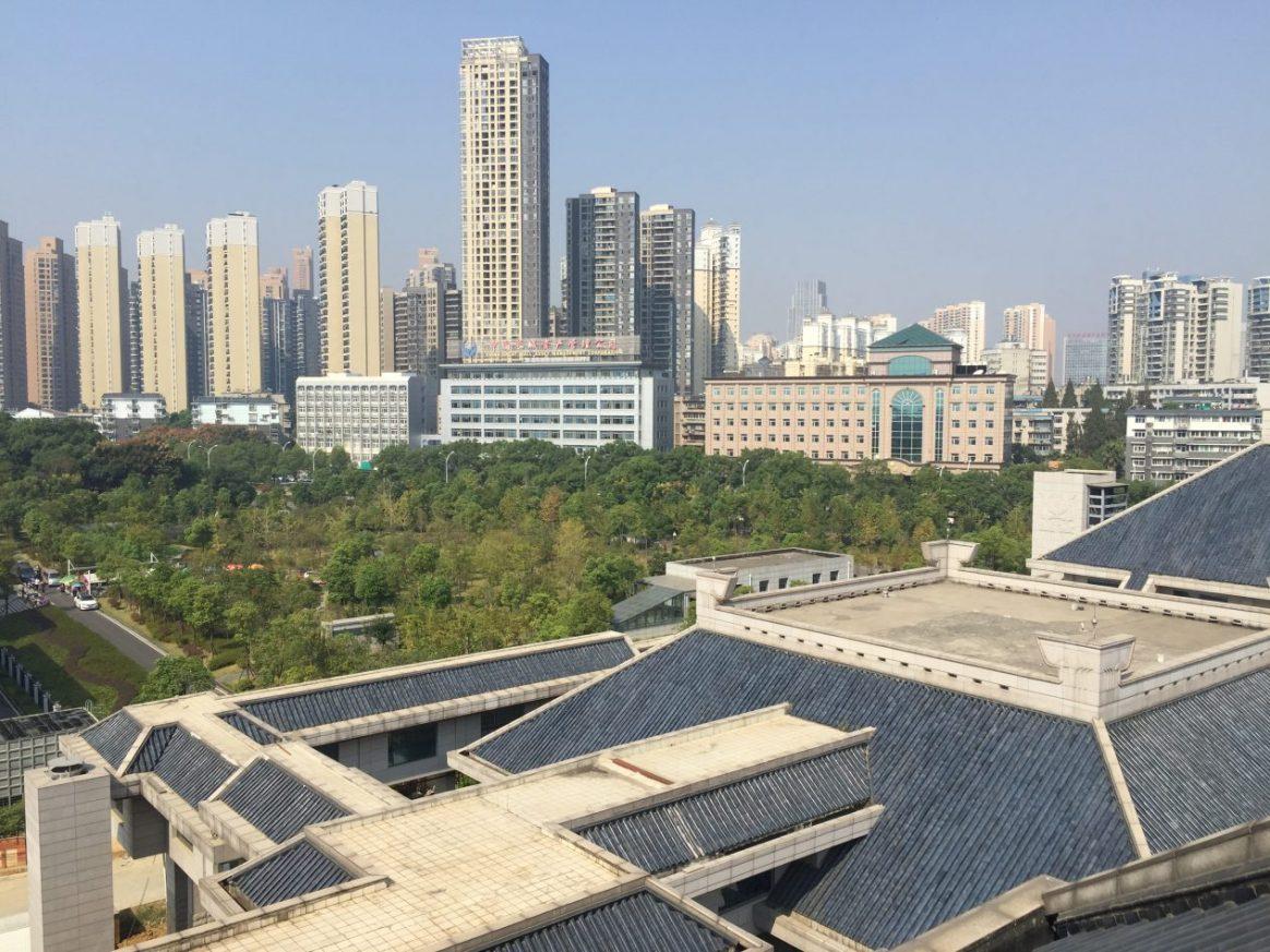 Une vue depuis le musée de la Province du Hubei