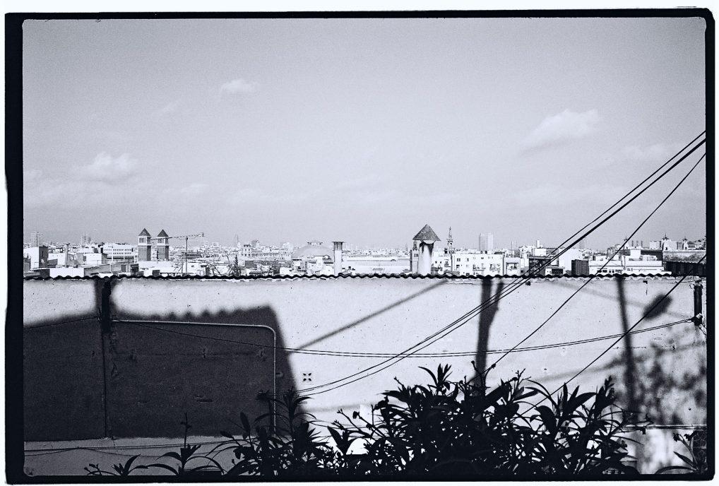 Une vue depuis les hauteurs à Montjuic