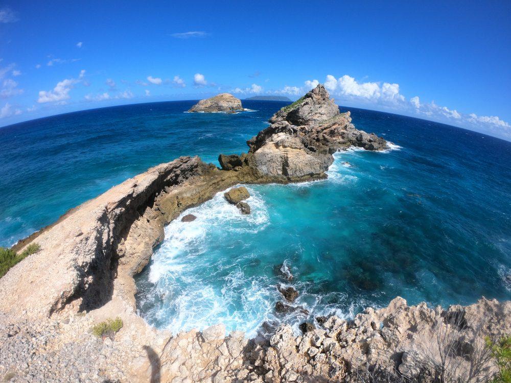 la belle vue de la Guadeloupe et la caldera de la pointe des Châteaux