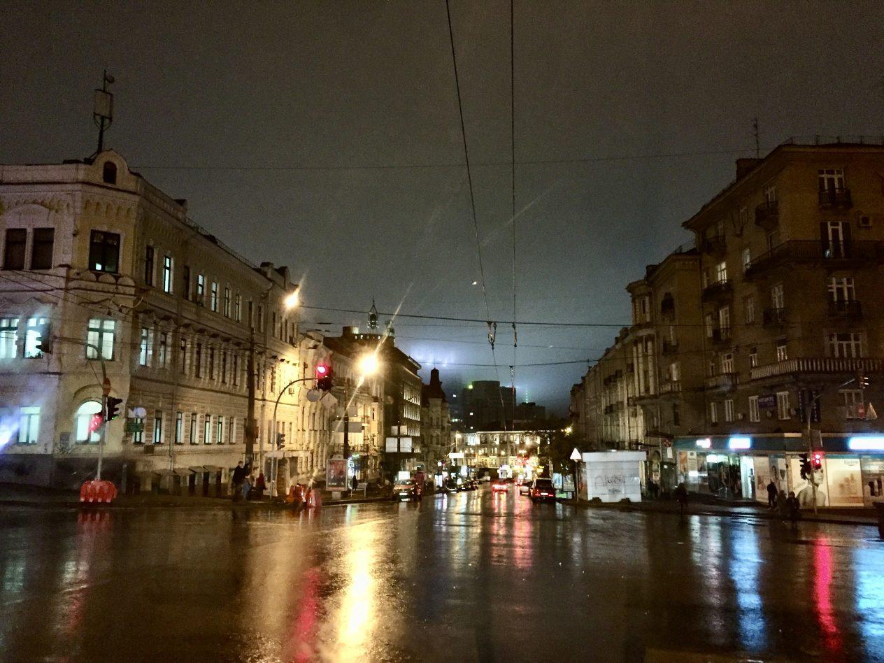 Escale à Kiev pendant la nuit