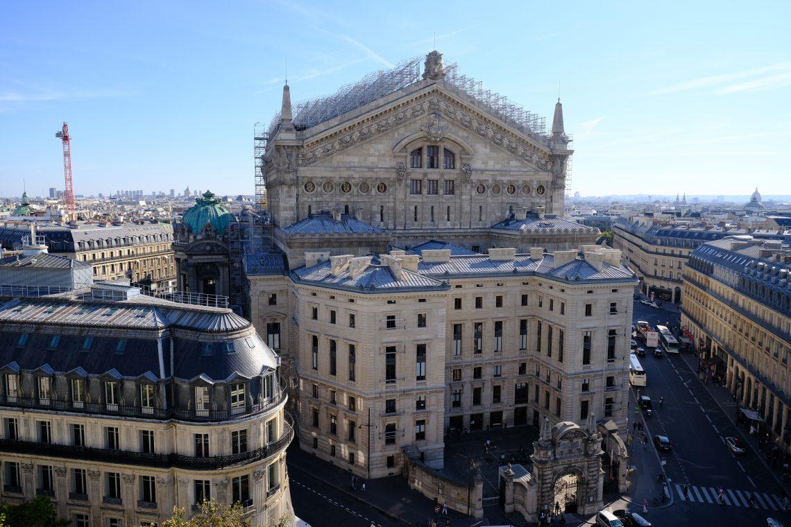 L'Opéra Garnier vu depuis les toits des Galeries Lafayette