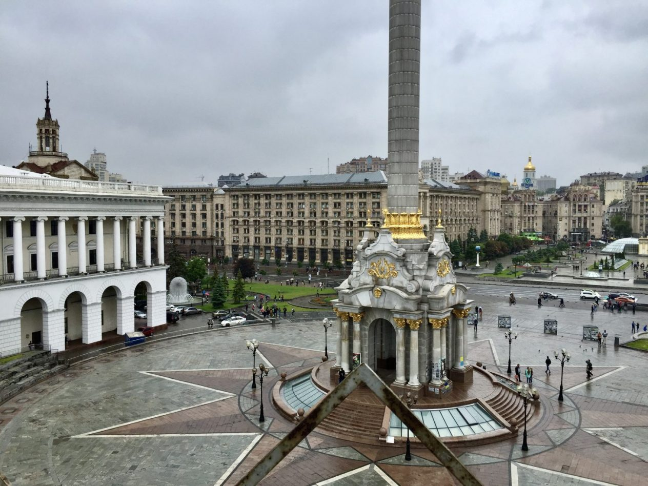 La place Maïdan dans le centre de Kiev