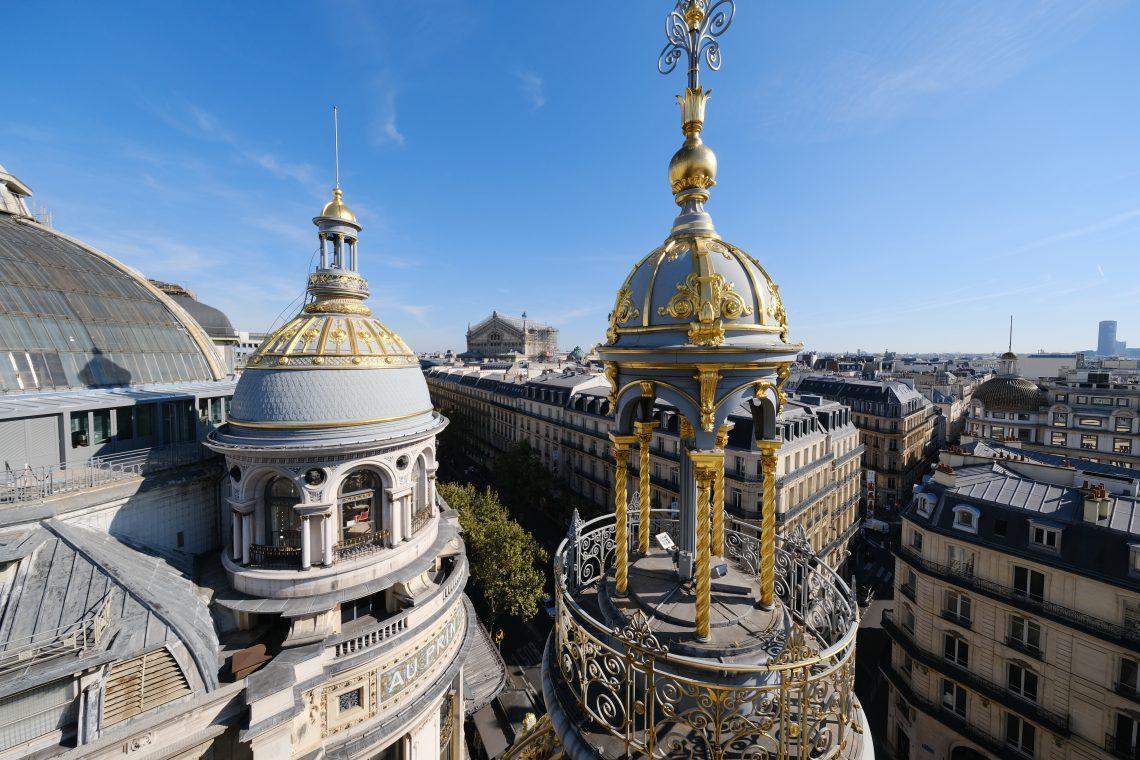 La vue sur Paris depuis les toits du Printemps