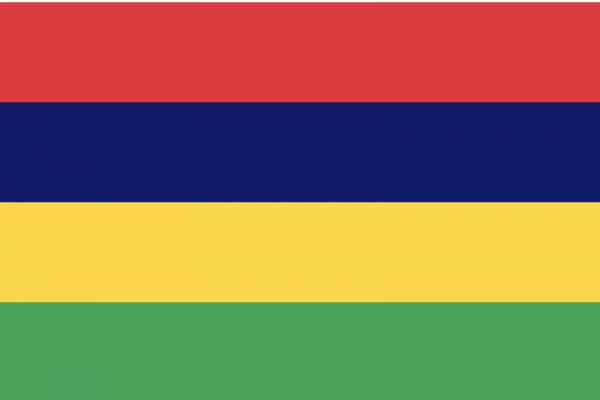 Le drapeau coloré de l'île Maurice