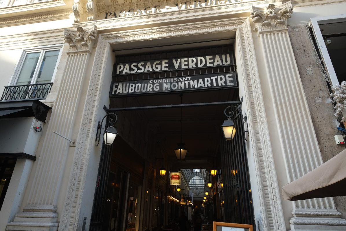 Le passage Verdeau dans le 9 ème arrondissement de Paris