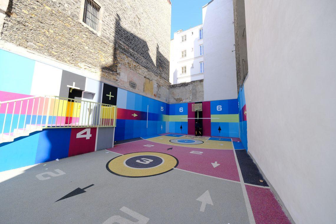 Le splendide et insolite terrain de basket Pigalle Duperré en plein cœur du neuvième arrondissement de Paris