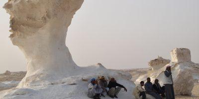 Quelque part dans le désert blanc en Egypte
