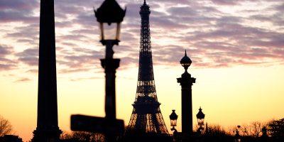 Un coucher de la soleil en hiver, place de la Concorde à Paris, Yann Vernerie