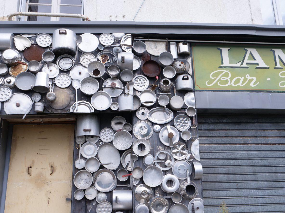 La devanture d'un restaurant à Nantes