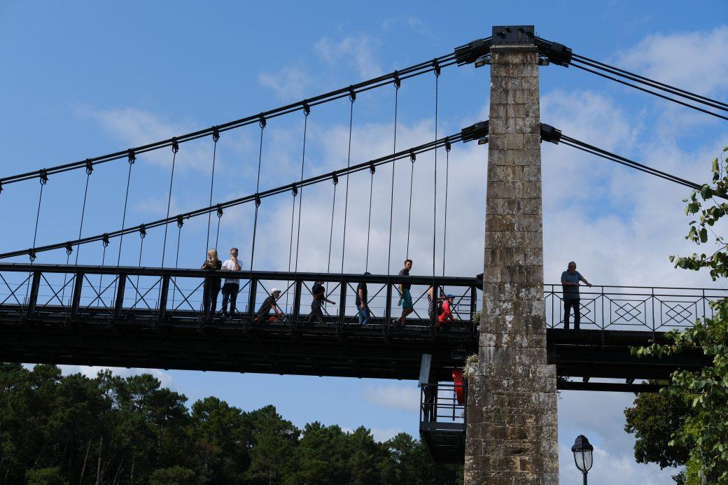 Le pont suspendu du Bono date de 1840