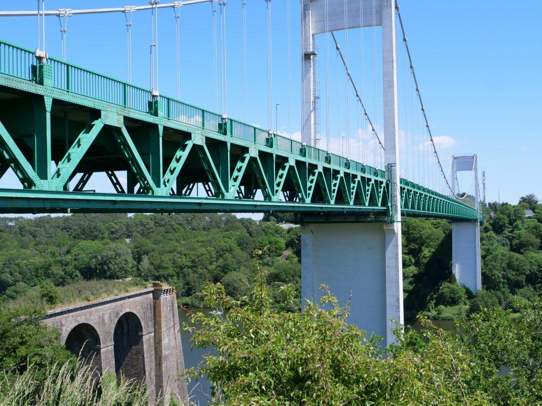 Les ponts de la Roche-Bernard qui enjambent la Vilaine