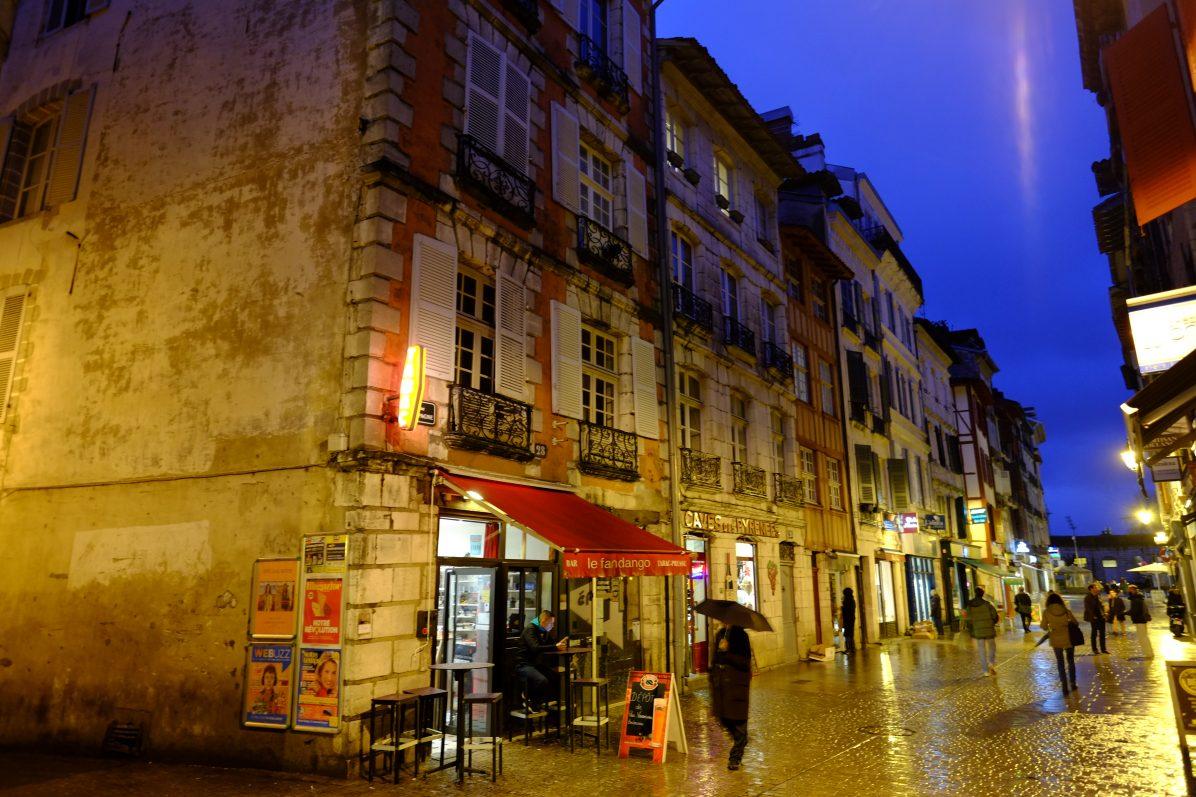 Bayonne sous la pluie
