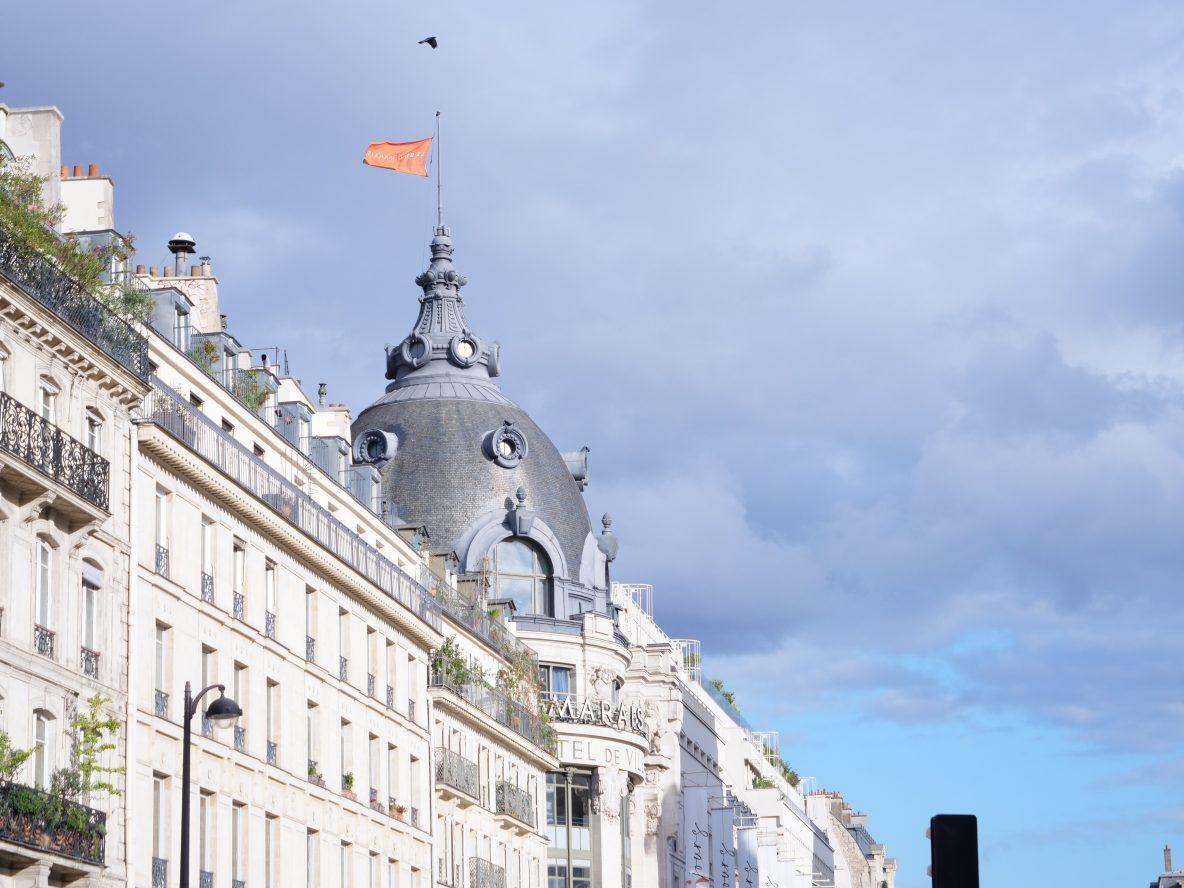 La façade du BHV dans le centre de Paris