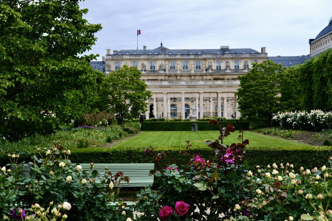 La jolie perspective du jardin du Palais Royal