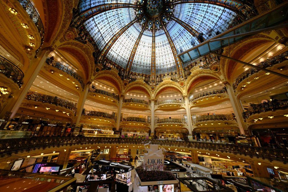 La splendide coupole des Galeries Lafayette