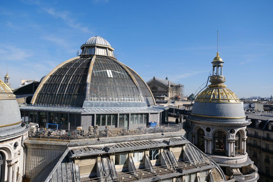 La toiture du Printemps Haussmann