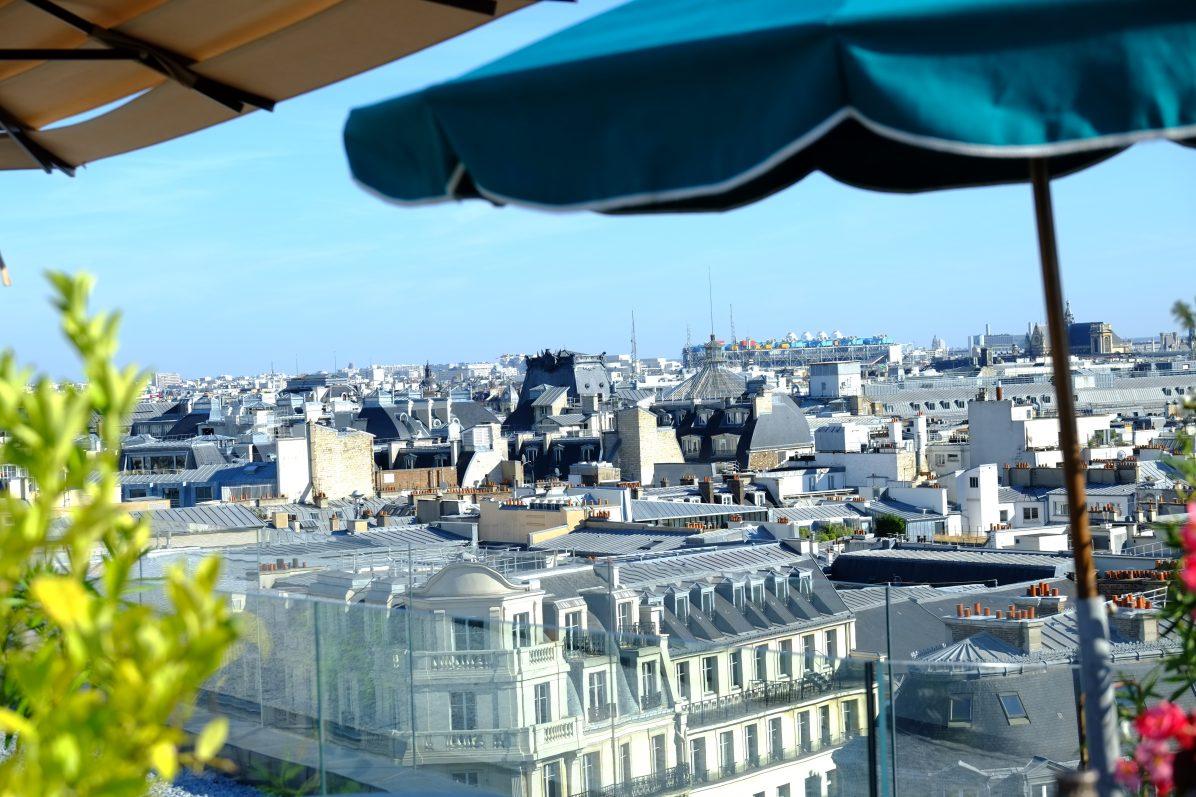 La vue depuis les galeries Lafayette