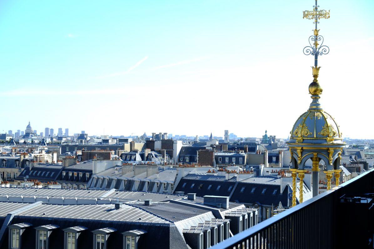 La vue sur Paris depuis le Printemps