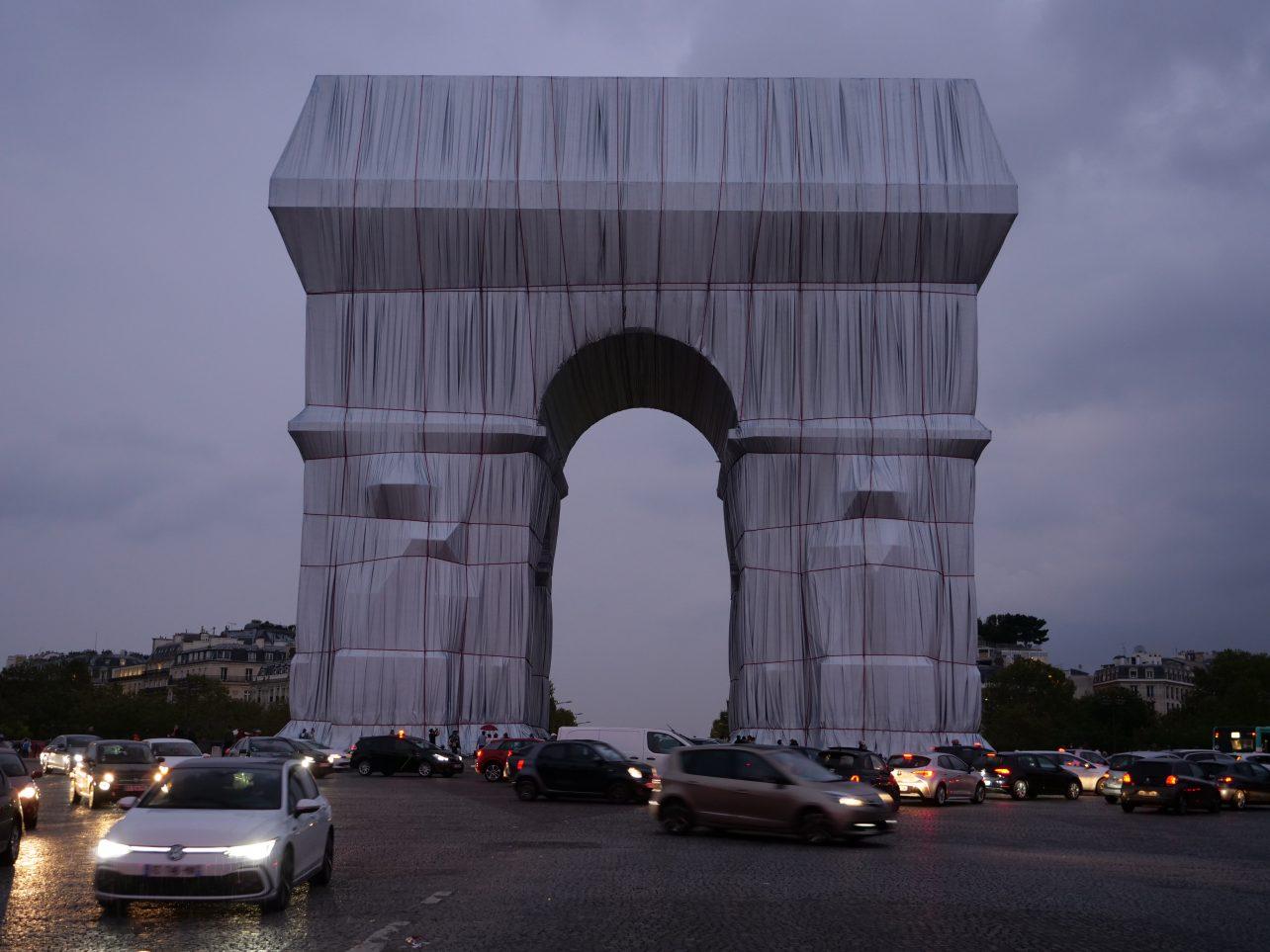 L'arc de Triomphe avec un côté graphique
