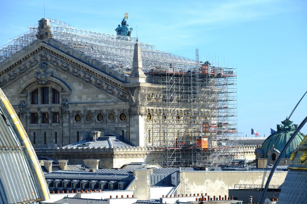 Le Palais Garnier en phase de rénovation