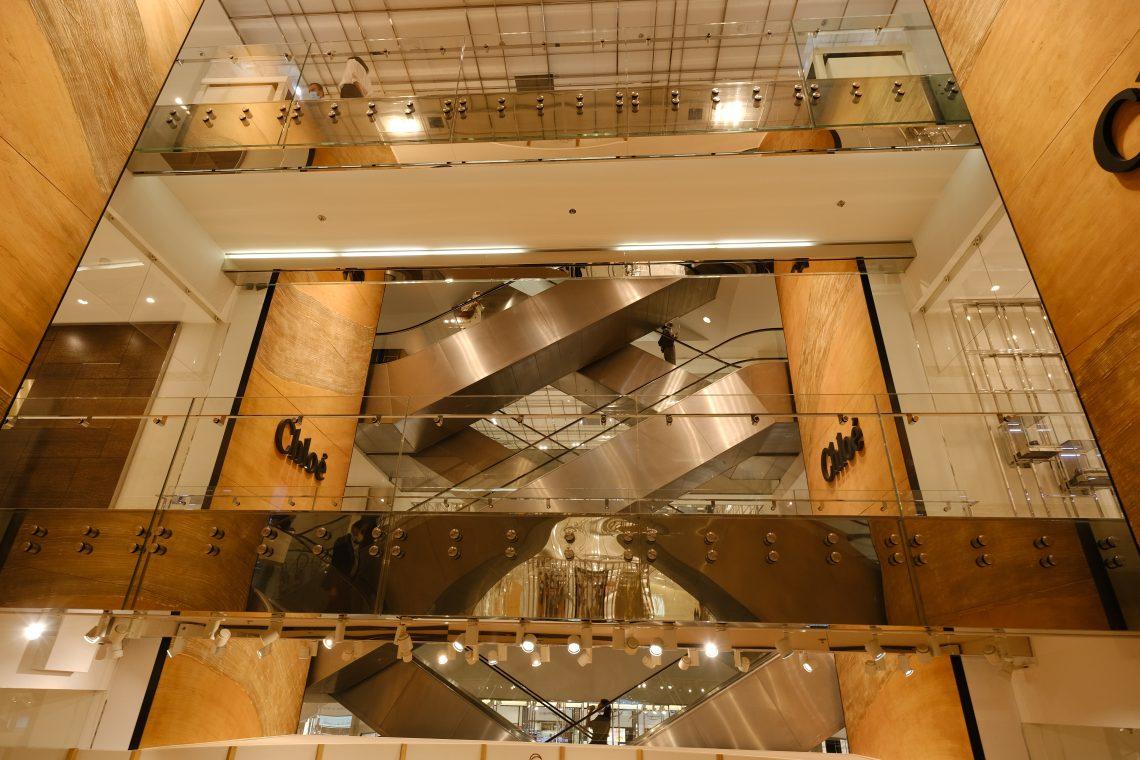 Les ascenseurs du Printemps
