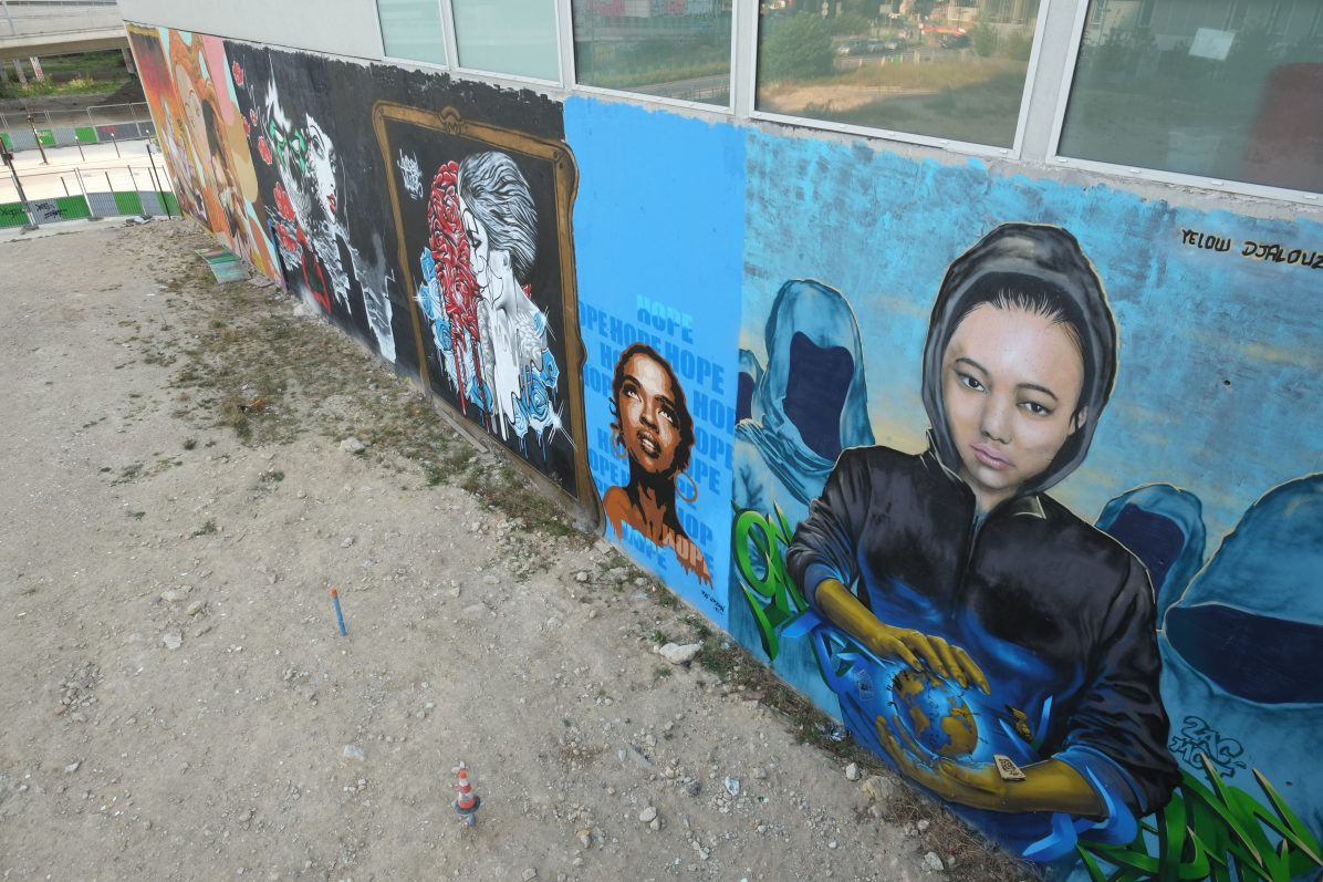 Les fresques en contrebas du pont national du côté du périphérique