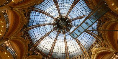 Les grands magasins parisiens et la verrière des galeries Lafayette