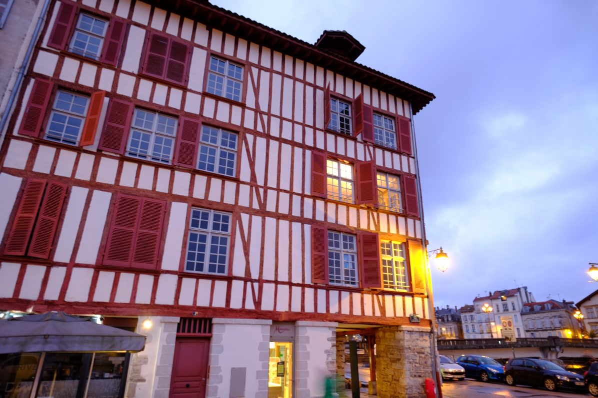 Une maison typique du centre de Bayonne
