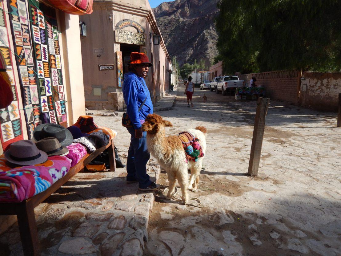 Dans les rues de Purmamarca une village andin
