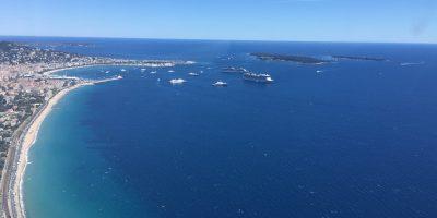 La baie de Cannes au décollage